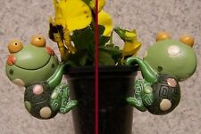 Flower Pot Hugger Whimsical Critter Frog NEW colored polystone