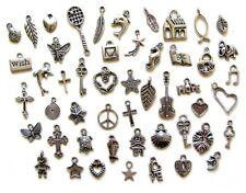 50 Breloques argentées _ LOT MIX DIVERS au choix _ Perles charms création bijoux