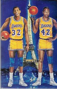 1991-92 LOS ANGELES LAKERS MEDIA GUIDE  MAGIC JOHNSON JAMES WORTHY