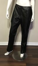 YVONNE MARIE Leather Pants Size 12 Zip Front Diagonal Seams