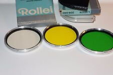 Rolleiflex Bay VI three filters set (green, yellow, and r1.5) for SL66 etc