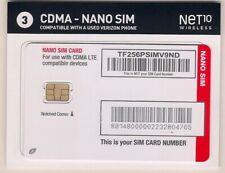 Verizon CDMA LTE Net10 Nano Sim Card NEW