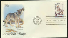 GRAY WOLF American Wildlife Artmaster Cachet Color FDC 1987 Capex Show (AW27)