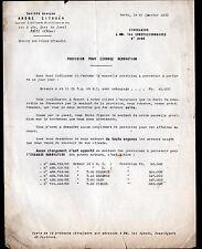 """Concessionnaire AUTOMOBILE CITROEN MOTEURS 9 & 11 """"CIRCULAIRE N°3.109"""" en 1950"""