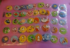 Pogs SNOOPY * Peanuts * Complete Set of 60 * in Sheets * Linus * Charlie Brown