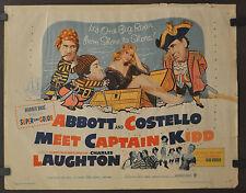 Abbott And Costello Meet Captain Kidd 1953 Orig 22X28 Póster Película Bud Abbott