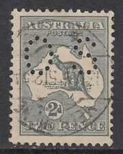 1915 2d Grey Kangaroo, OFFICIAL 2nd watermark, Used