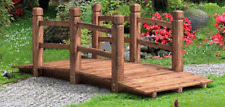 Landscape Garden Bridge 5 Ft Wood Pond Creek Walkway Backyard Patio Decor