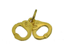 Police Officer Hand Cuffs 3D 24K Yellow Gold plated LOVE Kinky SEX Jewelry 2 PC