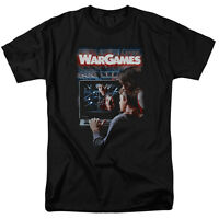 Wargames War Games Movie Poster Hacker Licensed Tee Shirt Adult Sizes S-3XL