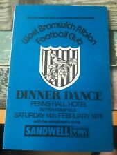 More details for west brom wba bromwich albion 1976 hand signed menu tony brown ray wilson etc.