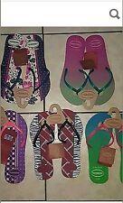 New Havaianas woman's Brazillian  Flip Flop, EUR 43/44, USA 11/12 Rosa $24.99