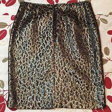 Jones New York Women's Size 8 Gold Brown Knee Length Skirt
