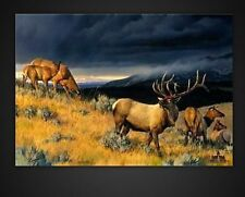 Nancy Glazier FAREWELL TO FALL II - s/n Canvas - ELK - $475 value