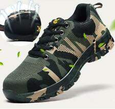 Men's Camouflage Steel Toe Safety Shoes Anti-slip Hiking Climbing Work Boots
