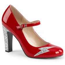 Black Glitter Mens Drag Rocky Horror Frank N Furter Costume Shoes Heels 13 14 15