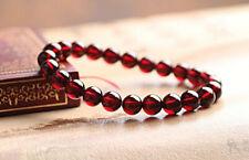 Genuine Natural Purple Garnet Crystal Healing Round Beads Bracelet 7mm AAAA