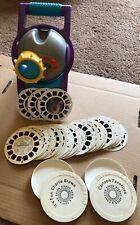 Lot of View-Master Projector & 44 Vintage Reels w/ Disney, Peanuts, Batman, More