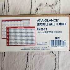 2021 At A Glance Horizontal Erasable Calendar Dry Erase Wall Planner 24 X 36