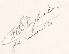 CARLO TAGLIABUE opera baritone signed card + Rigoletto MET program 1939