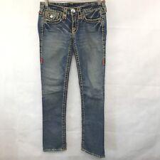 True Religion Brand Denim Womens Jeans Joey Super T Distressed Twist Flare 26