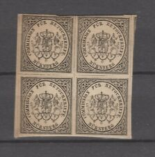 Germany Commission Fur retourbrief Imperf Block of four mnh