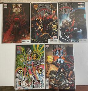 King in Black 1-5 Complete Comic Lot Set Venom Knull Cates Stegman 1 2 3 4 5 NM