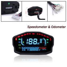 Universal Motorcycle Speedometer Odometer Digital LED Meter Gauge Accessories