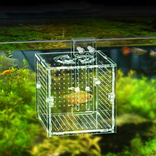 Acrylic Fish Breeding Net Boxes Isolation Hanging Aquarium Incubator Box Tank AU