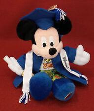 "NEW Mickey Mouse 10"" Disneyland Resort 2004 Graduation Beanbag Plush Toy NWT"