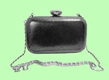 LA SERA By FRANCHI Grey & Black Mesh Clutch -Shoulder Bag Msrp $125 *FREE S/H