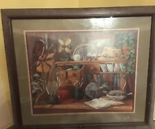 "Barbara Mock Painting Home Interior Gifts Outdooorsmen's Desk 27"" x 23"""