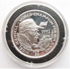 Liberia Nigel Mansell Plata Prueba $5 Moneda En Cápsula Con cert. de autenticidad