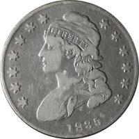 1835 Bust Half Dollar VG/F Details 0-109 R.2 Nice Eye Appeal