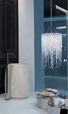 Modern Italian designer beaded crystal chandelier pendant light / shade
