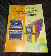 ROCK-OLA E ROCK / WALL ROCK OPERATION & SERVICE MANUAL W/ PARTS CATALOG, GUC