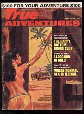 True Adventures Dec 1964 Stirnweis Painted Cov Sultan's Secret Harem Pin-up VG-