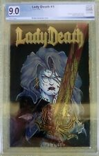Lady Death #1 (Jan 1994, Marvel) PGX 9.0 VF/NM (chromium cover)