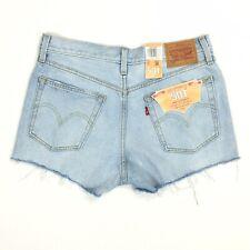 Levi's Women's 501 Button Fly Shorts Tag Size Waist 28 Cut Offs