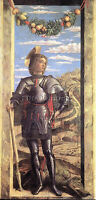 ANDREA MANTEGNA ST GEORGE ARTIST PAINTING REPRODUCTION HANDMADE OIL CANVAS REPRO