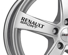 Renault Sport Car Alloy Wheel, Window,Wing Mirror, Decal Logo Vinyl Sticker x6
