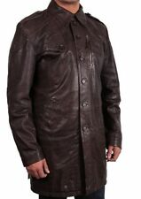 Button Leather Casual Men's Winter Coats & Jackets