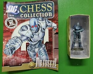 DC Eaglemoss Chess Collection Mr. Freeze No.15 Figure with Magazine