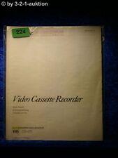Sony Bedienungsanleitung SLV 625 /NC /UB /VP Video Cassette Recorder (#0224)