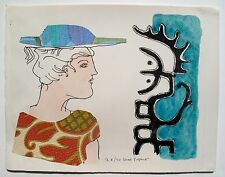 "MAX PAPART ""LADY ON THE SEA SHORE"" Hand Signed Limited Edition Etching RARE!"