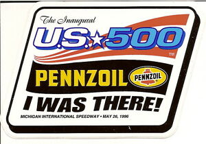 1996 U.S. 500 CART INDY CAR STICKER INDIANAPOLIS 500 MICHIGAN SPEEDWAY PENSKE