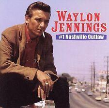 WAYLON JENNINGS - #1 Nashville Outlaw CD Don't Think Twice White Lightnin Lorena