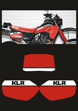 Tabelle Kawasaki KLR 600 dal1984 Rosso/Bianco - adesivi/adhesives/stickers/decal