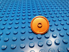 LEGO-MINIFIGURES SERIES X 1  COPPER ROUND SHIELD WITH RAISED STUD IN MIDDLE PART