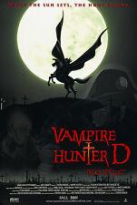 VAMPIRE HUNTER D: BLOODLUST (2001) ORIGINAL MOVIE POSTER  -  ROLLED